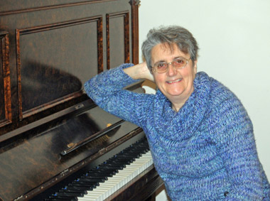 Sally Carpender at Piano